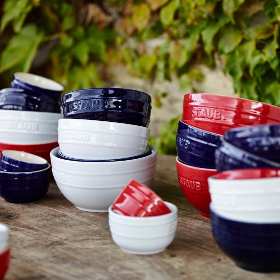 珐琅陶瓷小碗4件套 12cm